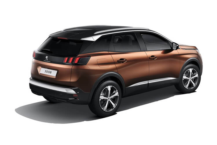 Peugeot 3008 SUV 1.5 BlueHDi 130PS Allure 5Dr Manual [Start Stop] back view